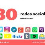 Las 30 redes sociales más utilizadas